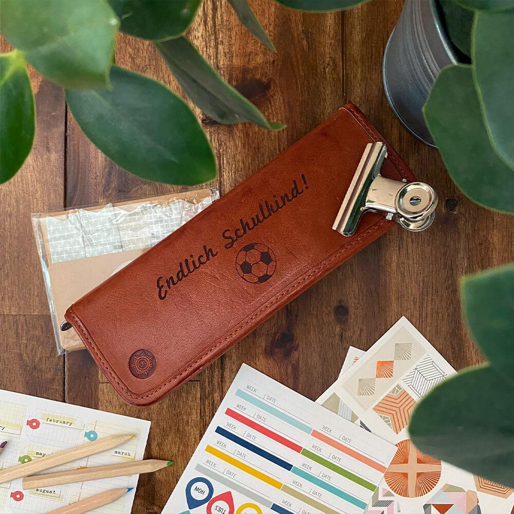 Geschenke zum Schulanfang Federmäppchen personalisiert