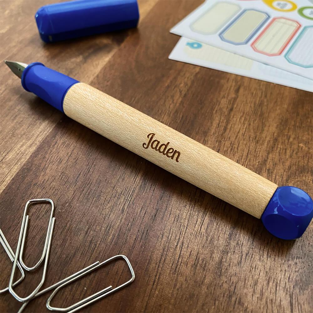 Geschenk zum Schulanfang Beispiel Füller mit Gravur Name