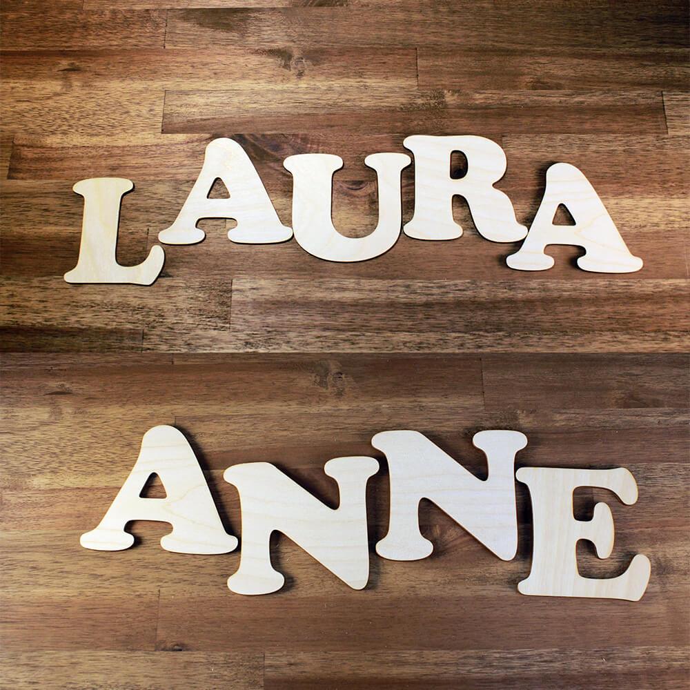 Schulanfang Geschenkideen Namen aus Holz