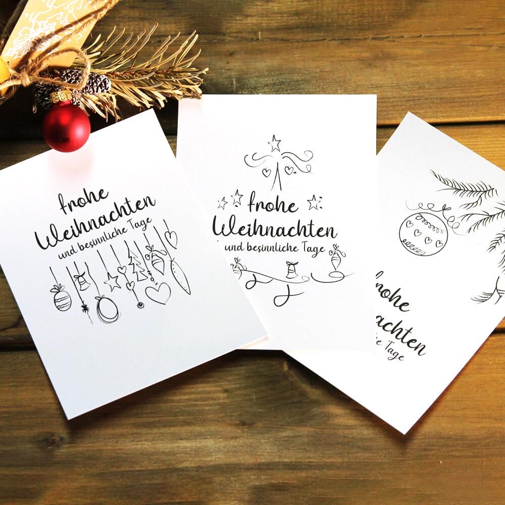 Originelle Weihnachtsgeschenke Weihnachtskarten personalisiert