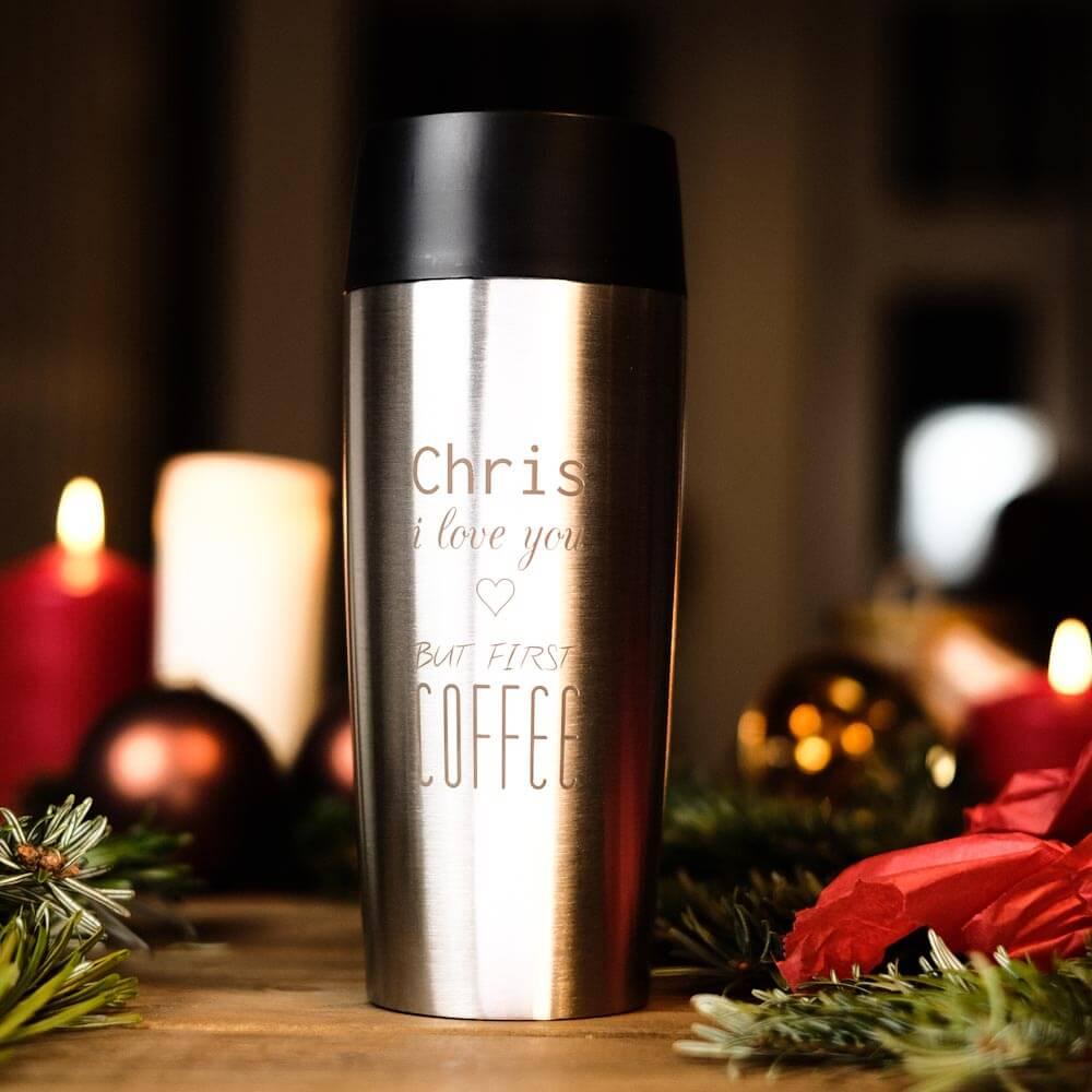 praktische Weihnachtsgeschenke EMSA Thermobecher mit Gravur personalisiert Edelstahl