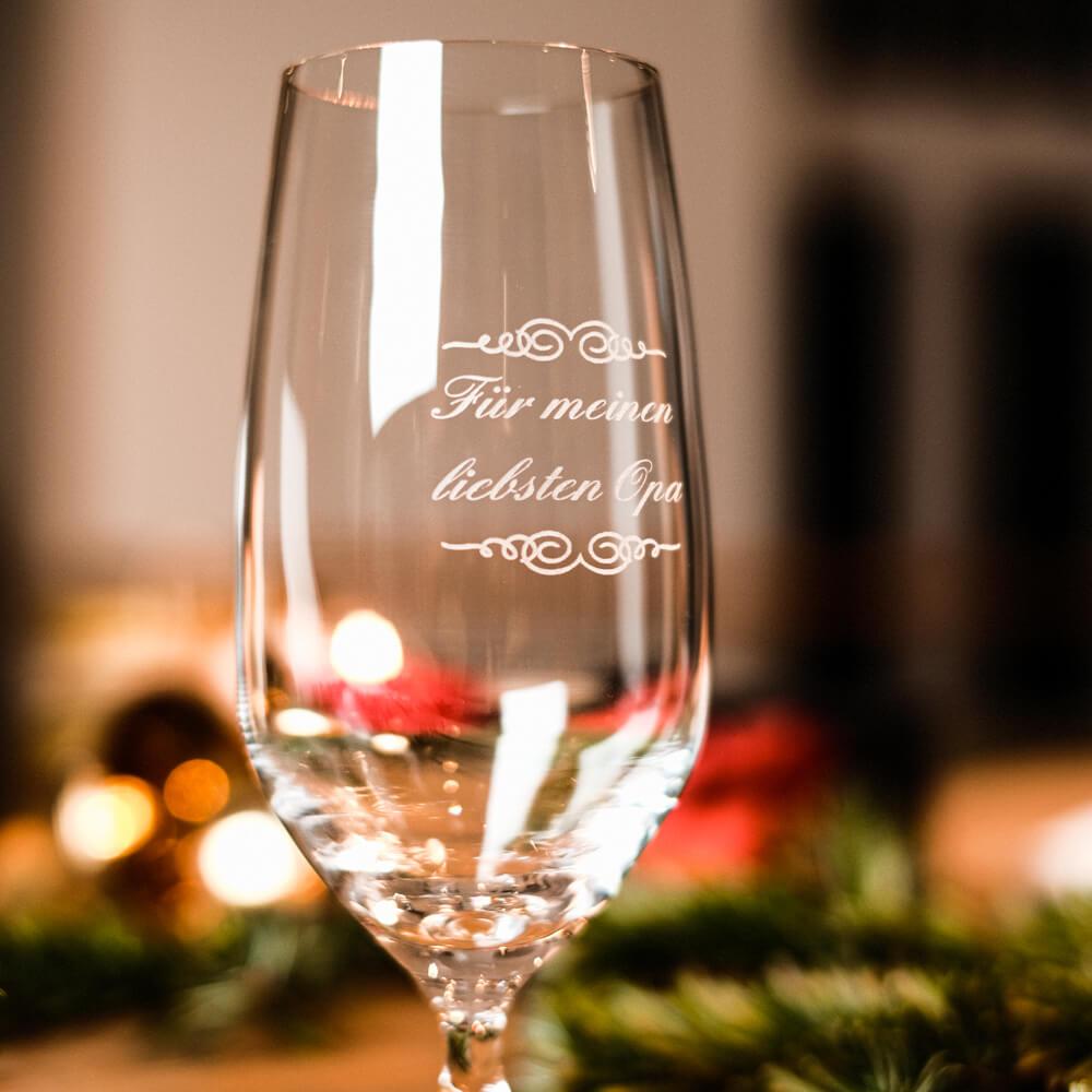 Weihnachtsgeschenke für Oma und Opa Bierglas mit Gravur personalisiert
