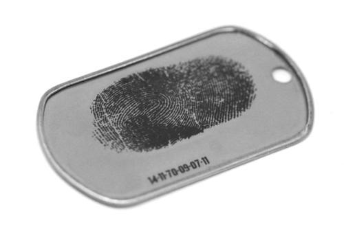 Dogtag Gravur Fingerabdruck