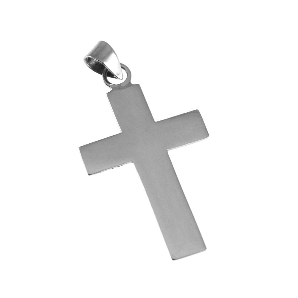 Kreuzanhänger aus silber mit Gravur