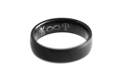 Ringgravur schwarz Edelstahl